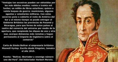 Carta de Simón Bolivar a Maxwell Hyslop