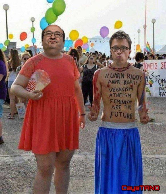 NI España.... NI Cataluña ... NI nadie merece esto ... Hasta cuando van a soportar esta tragedia ... Tuit de Wikipizza con ilustración de Tano