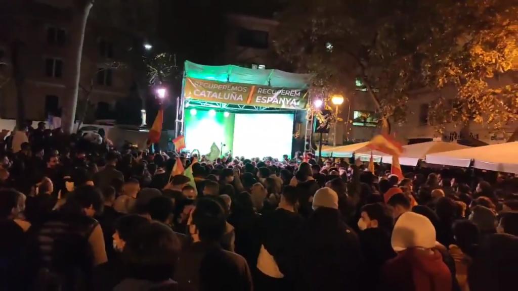Acto de cierre de campaña de VOX en Cataluña
