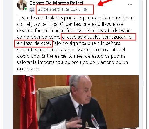 Cristina Cifuentes, absuelta en el caso Máster.