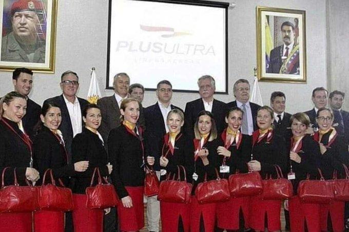La foto que evidencia la vinculación de Plus Ultra con el régimen chavista