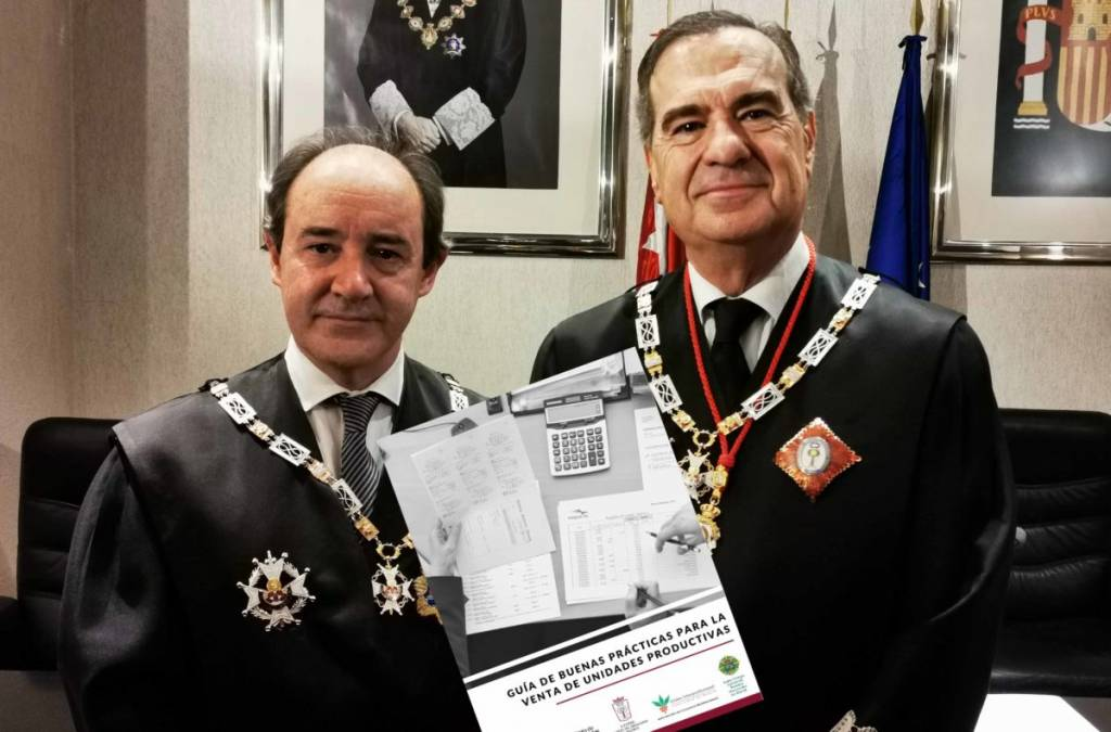 El presidente del TSJM y el decano del ICAM presentan la Guía de Buenas Prácticas para la venta de unidades productivas. Imagen de Confilegal