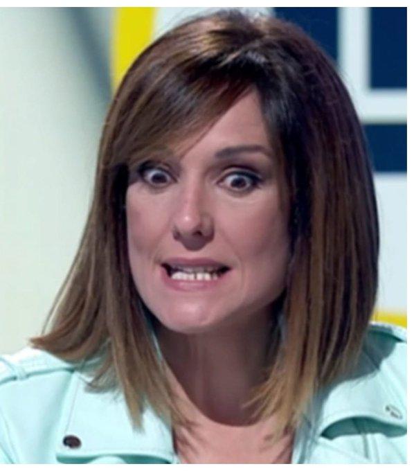 """La """"Isobaras"""" presentadora de TVE hace un amago de interrogatorio de la Gestapo a Monasterio. Tuit de Lisi"""
