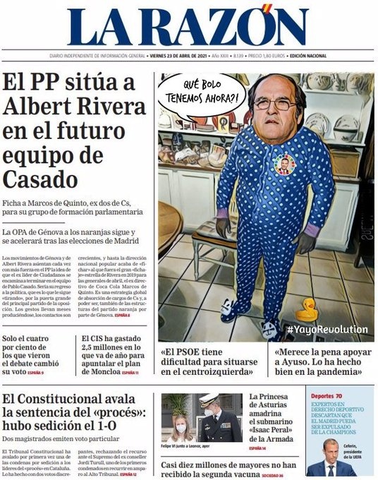 Según el CIS socialista el Frente Popular podría ganar las elecciones madrileñas. Por Linda Galmor