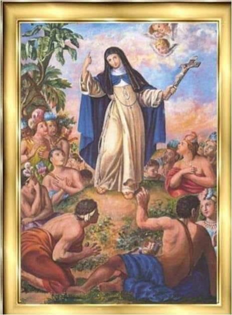Sor María de Jesús de Ágreda, la Dama Azul, the Lady in Blue