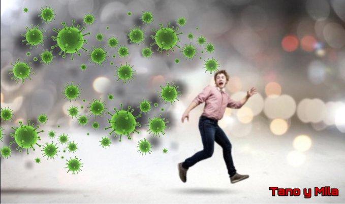 Un virus que nos mata y un Gobierno que nos rompe.. Ilustración de Tano