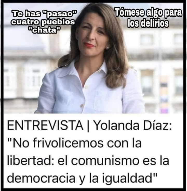 Yolanda Díaz: El comunismo es la democracia y la libertad