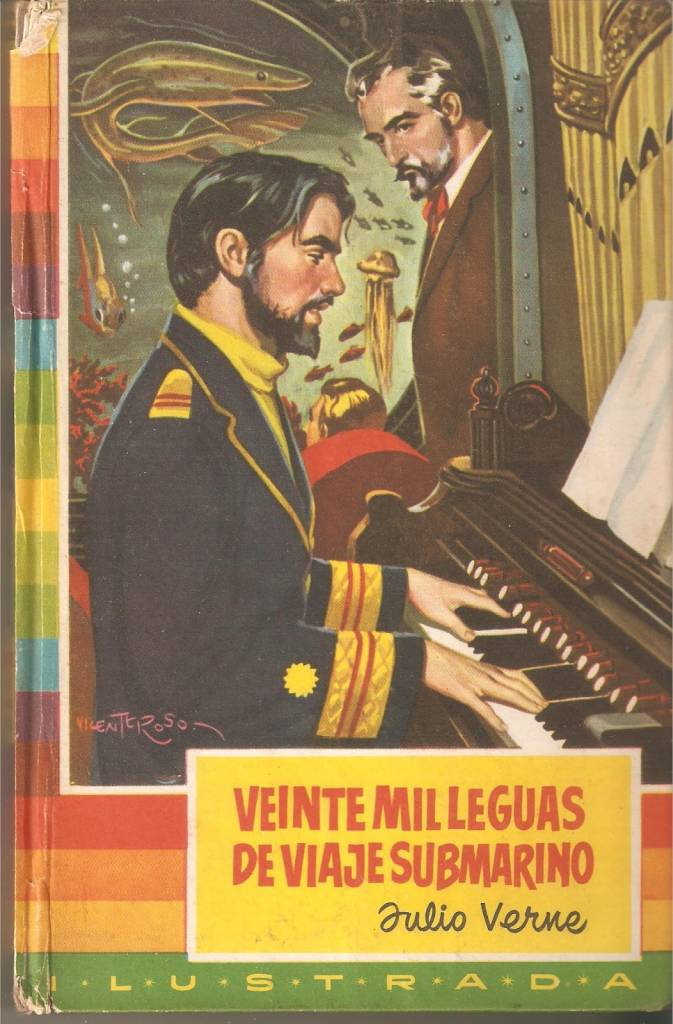 El Doctor Sánchez al órgano mientras el Nautilius se hunde al lecho marino