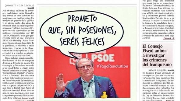 Hoy vamos a dar una patada al gobierno Sánchez en el culo de Gabilondo e Iglesias.