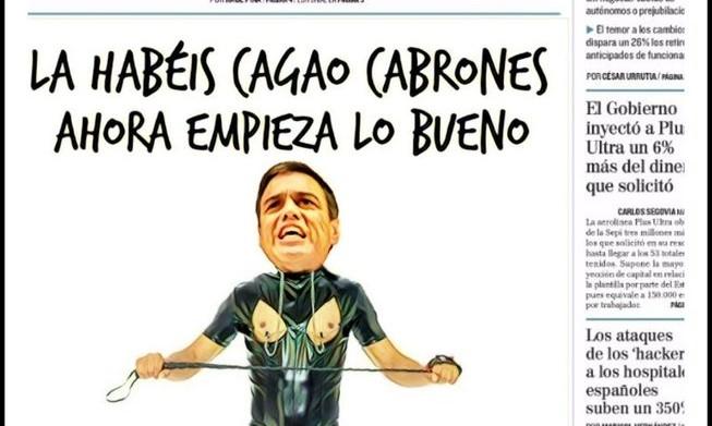 Odio africano de Sánchez a los rebeldes madrileños