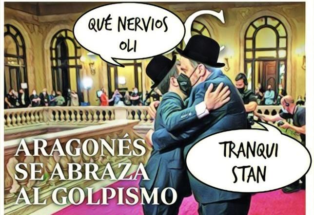 gobierno en Cataluña, quedando en manos de cómicos y de paletos de pedanía