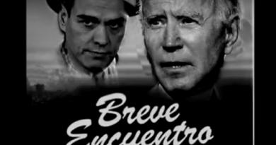 Breve encuentro de Pedro Sánchez con Joe Biden