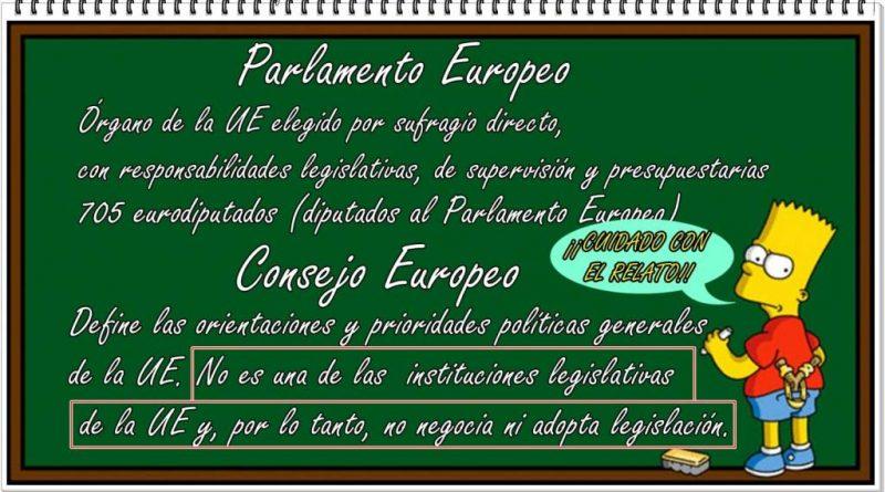 Cuidado con el relato. Tratan de confundirnos con el Consejo de Europa.