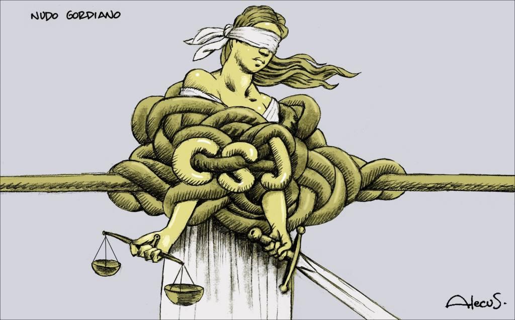 El nudo gordiano catalán- Ilustración de Alecus