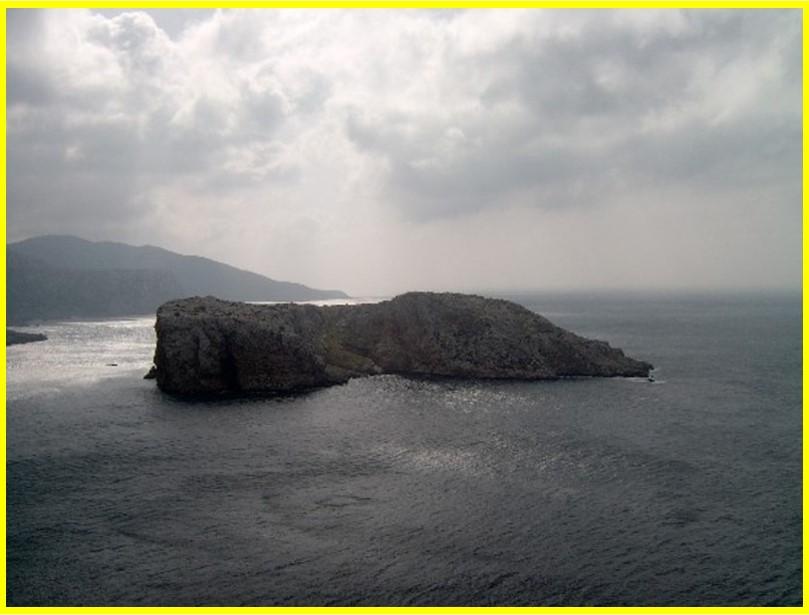 Isla del Perejil vista desde Marruecos