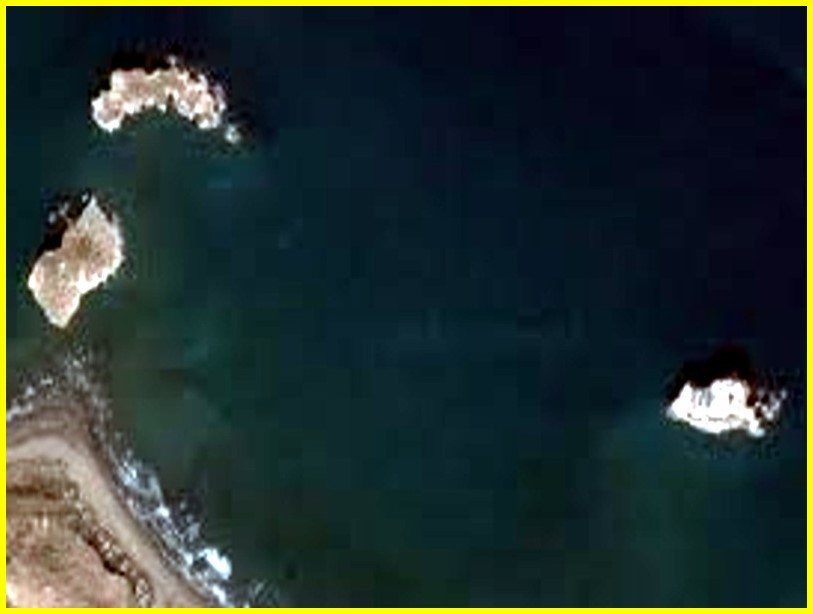 Islas Alhucemas vista satelital