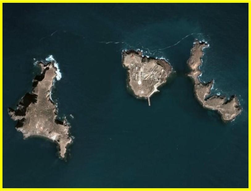 Las Chafarinas vista satelital