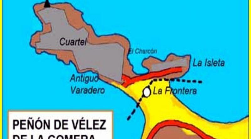 Mapa del Peñón de Vélez de la Gomera