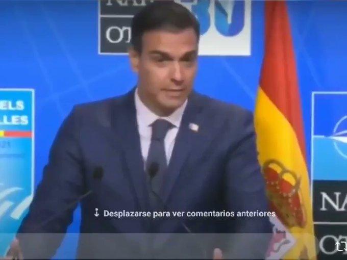 Pedro Sánchez se tira un minuto explicando en rueda de prensa el contenido de la conversación con Biden