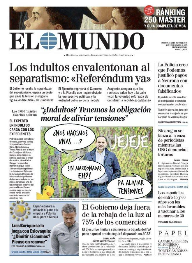 Sánchez, con los indultos, compra tiempo para poder gestionar los fondos de recuperación europeos. Por Linda Galmor