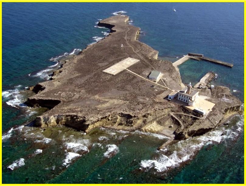Vista aérea dela isla de Alborán