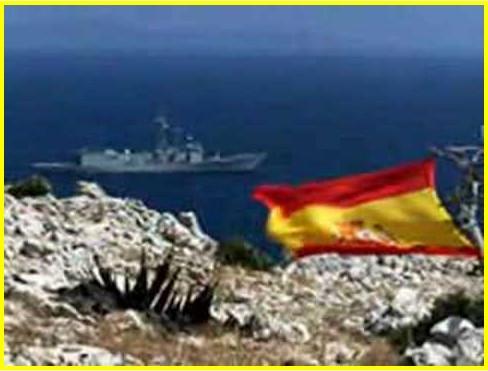 bandera española del desembarco