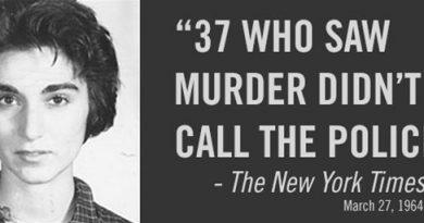 Cuando no hay consecuencias es lo que hay.  37 personas que vieron el asesinato no llamaron a la policía.
