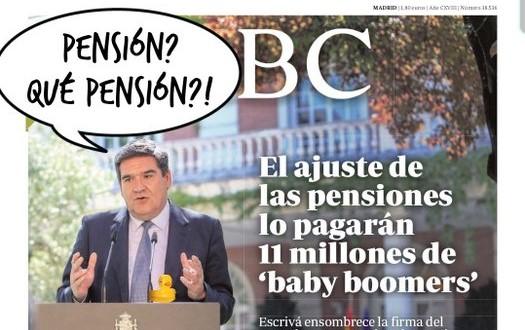 Estos mamones se han gastado nuestras pensiones.