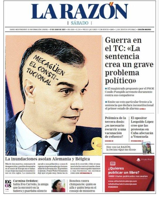 Sánchez se pasa el Constitucional por el forro y se echa al monte. Por Linda Galmor