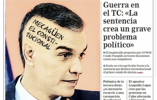 Sánchez se pasa el Constitucional por el forro y se echa al monte.