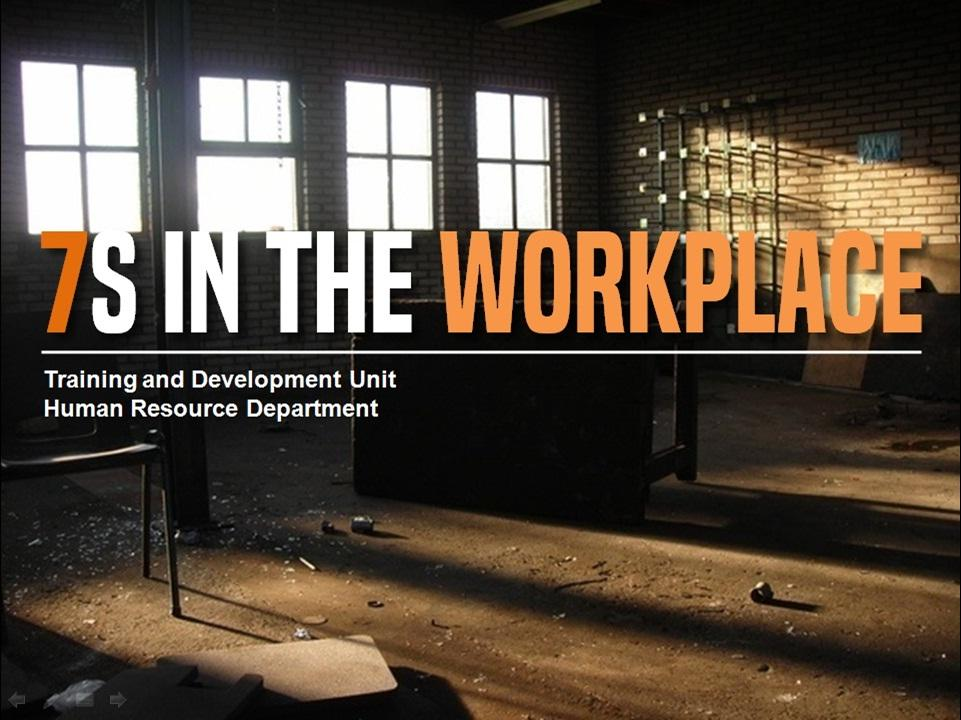 7S IN THE WORKPLACE Create-eLearning