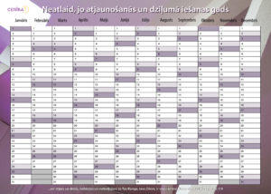 2017. gada sienas kalendārs - plānotājs