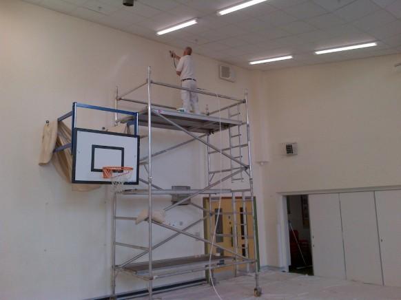 Churchill Park School Sports Hall Re-decoration