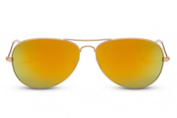 Smooth Aviator Orange Mirror