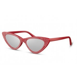 Diamond Cateye Red