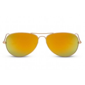 Smooth Aviator Orange Mirror