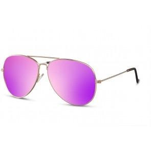 Pilotenbril met Paarse Spiegelglazen