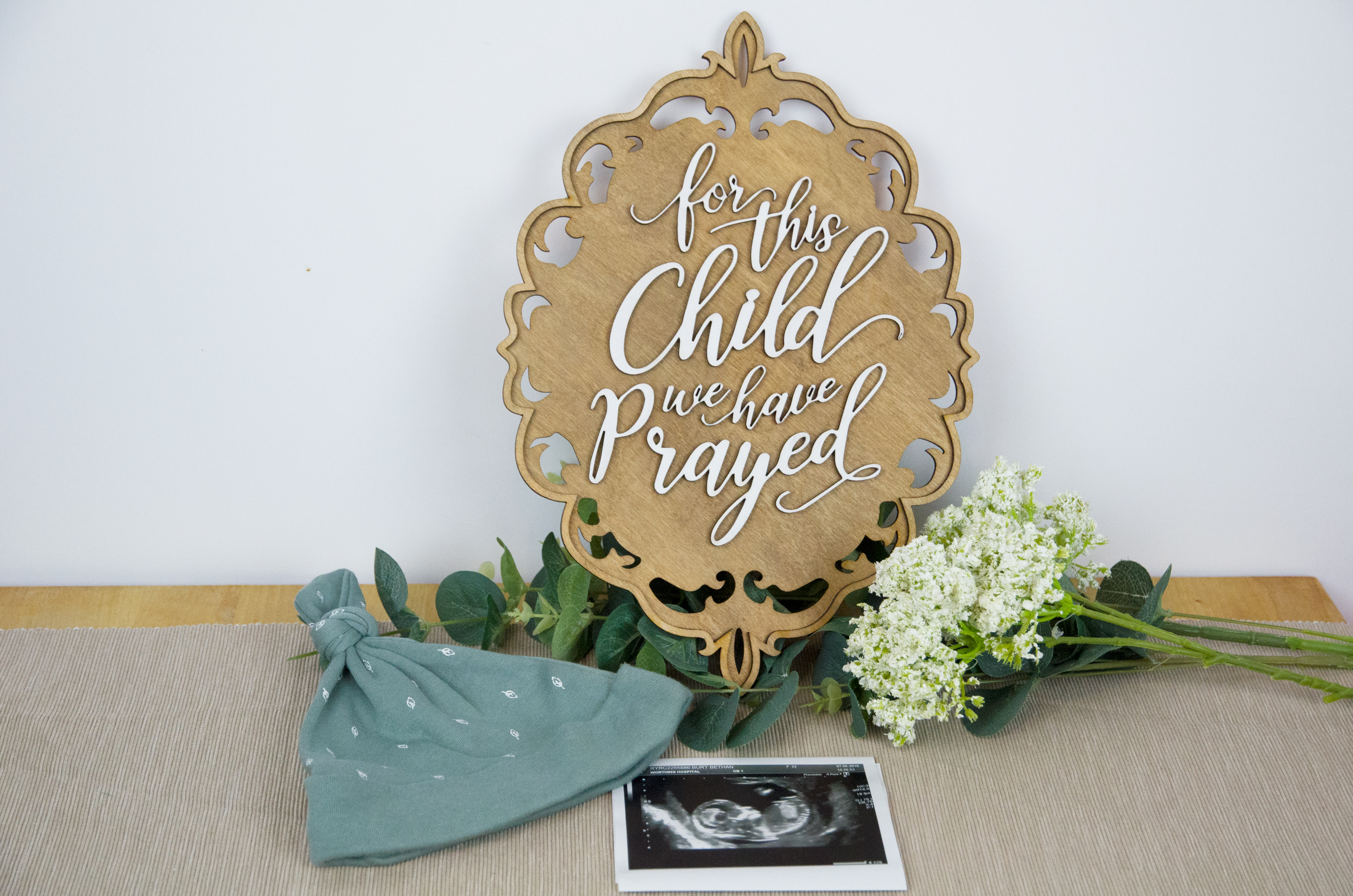 For This Child We Have Prayed Baby Gift Wall Cheerfully Given