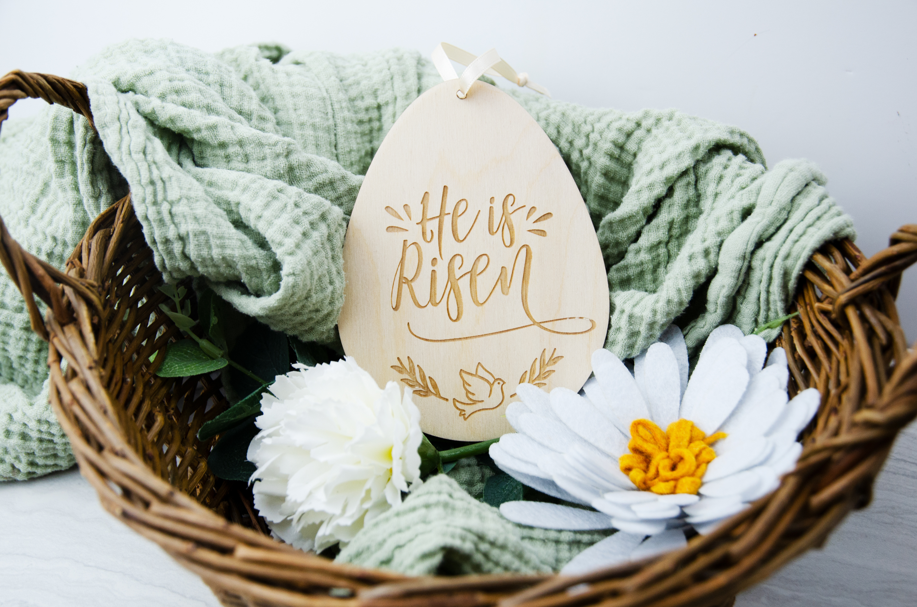 He is Risen-Easter Tin Ornament