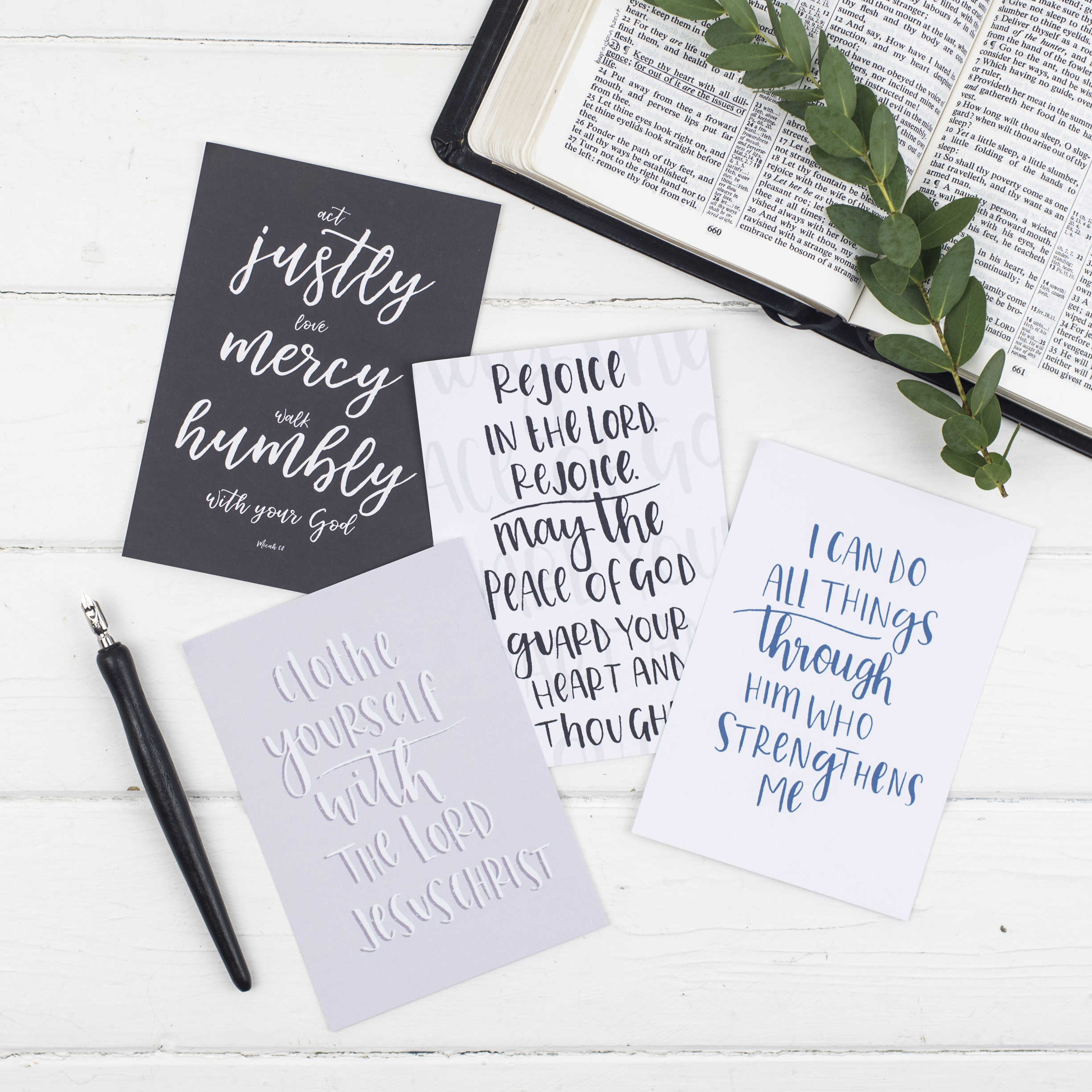 Contemporary scripture postcard pack cheerfully given