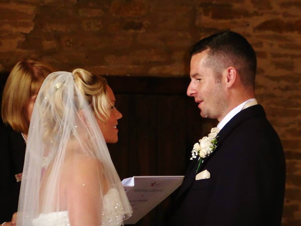 """Lucy and Lee say """"I do"""" with their own personalised vows Photo from Darren Bedding Photography"""