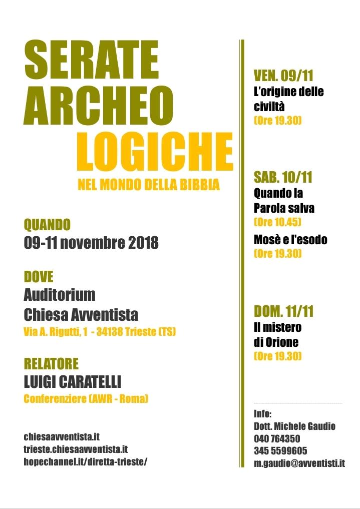 Trieste. Conferenze archeologia biblica