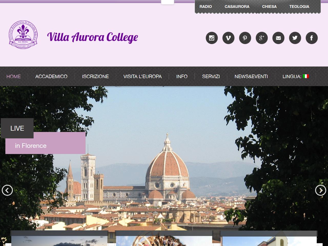Villa Aurora – Dipartimento Di Lingua, Cultura Ed Arte Italiana