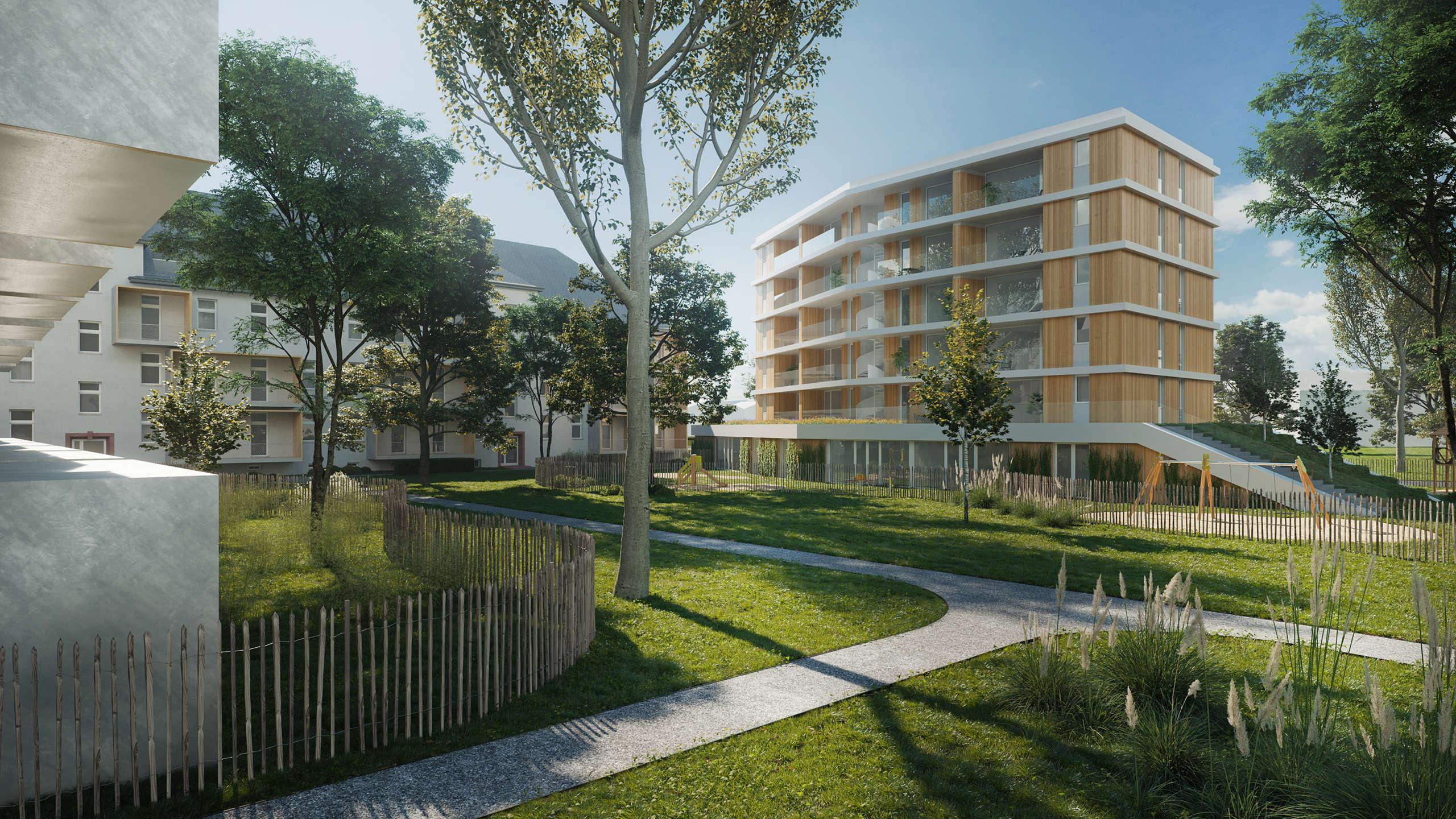 Wohnbau Und Kindertagesstaette Kastel Housing Lead Image