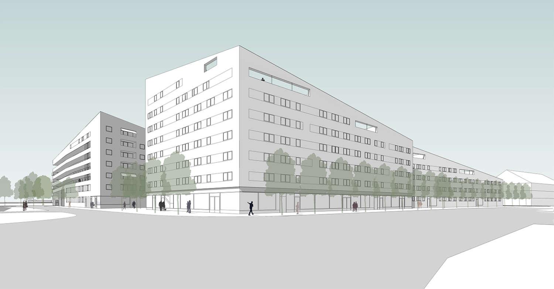 Wohnquartier Am Buergerhaus Mainz Kostheim Visualisierung 01
