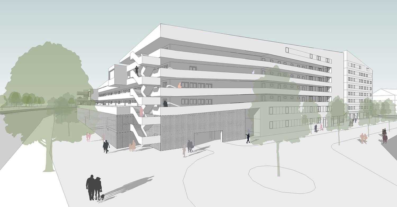 Wohnquartier Am Buergerhaus Mainz Kostheim Visualisierung 02
