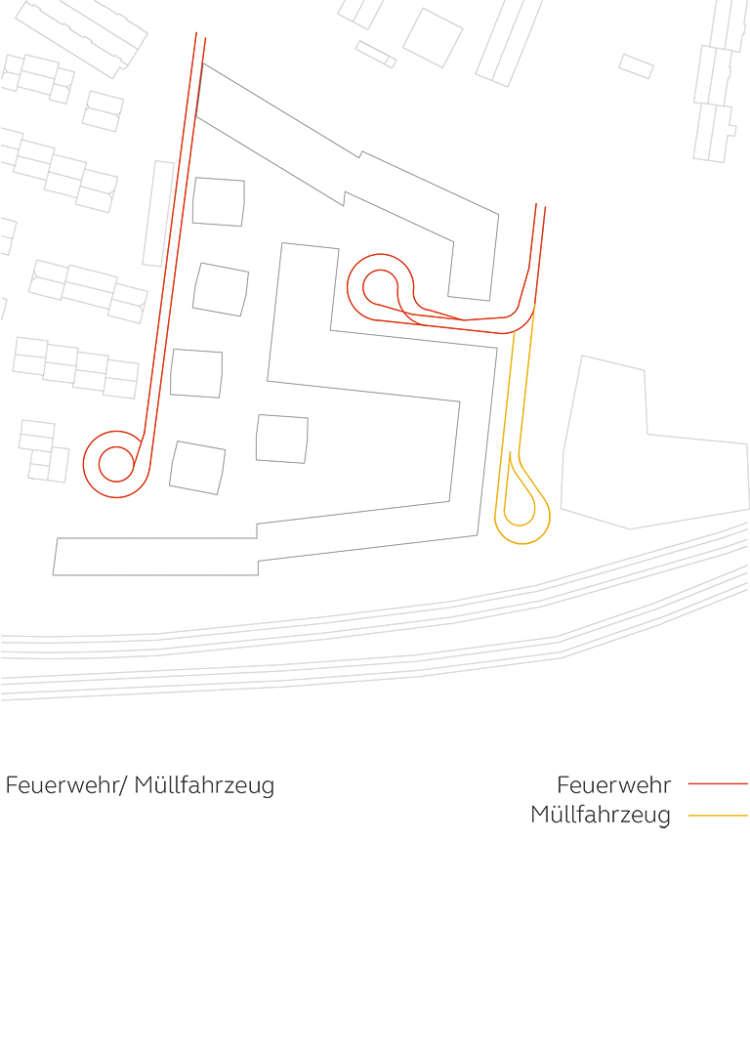 Wohnquartier Am Buergerhaus Mainz Kostheim Piktogramm Feuerwehr Muellfahrzeug