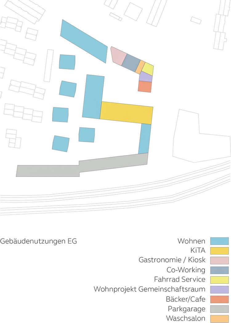 Wohnquartier Am Buergerhaus Mainz Kostheim Piktogramm Gebaeudenutzungen Eg