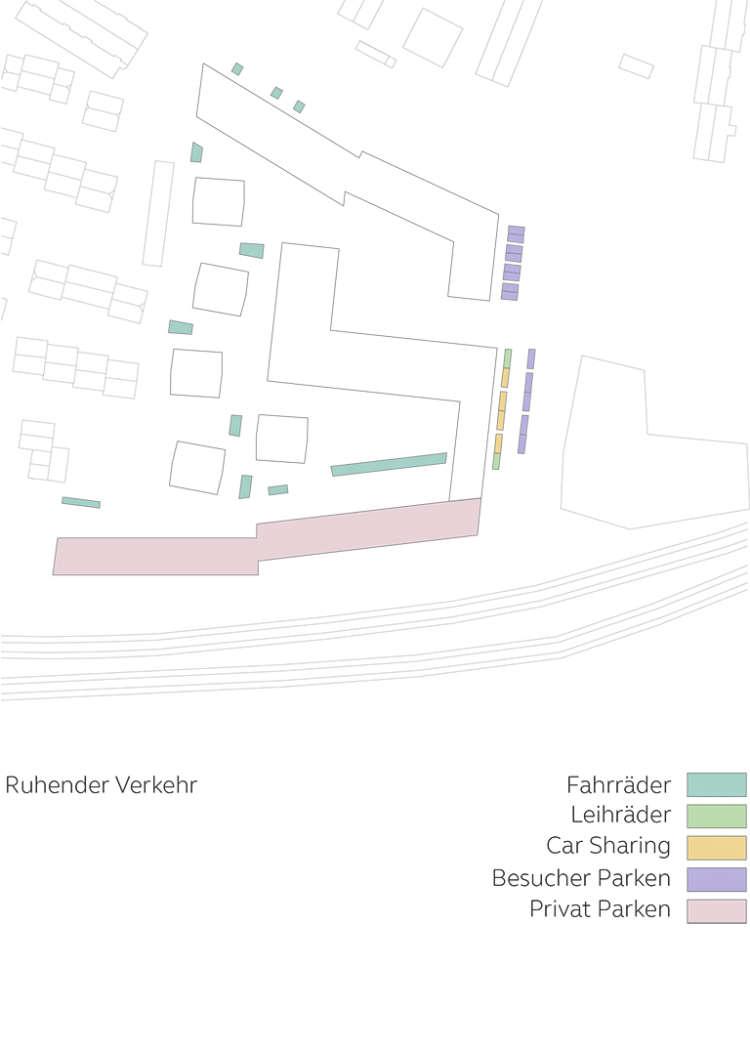 Wohnquartier Am Buergerhaus Mainz Kostheim Piktogramm Ruhender Verkehr