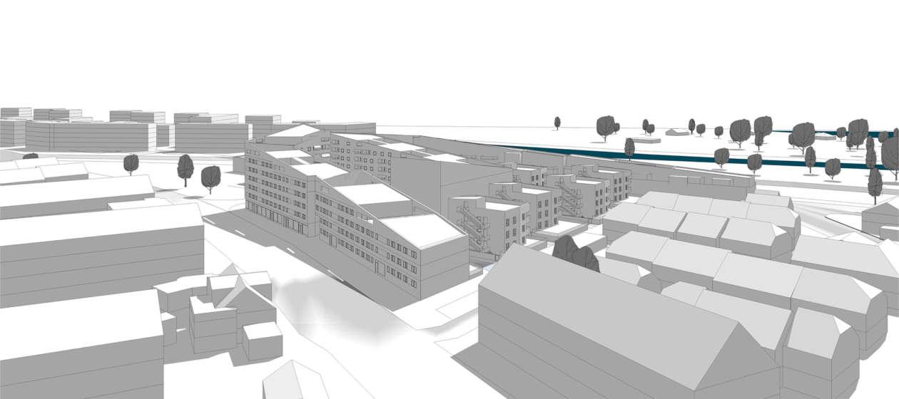 Wohnquartier Am Buergerhaus Mainz Kostheim Rundflug 02